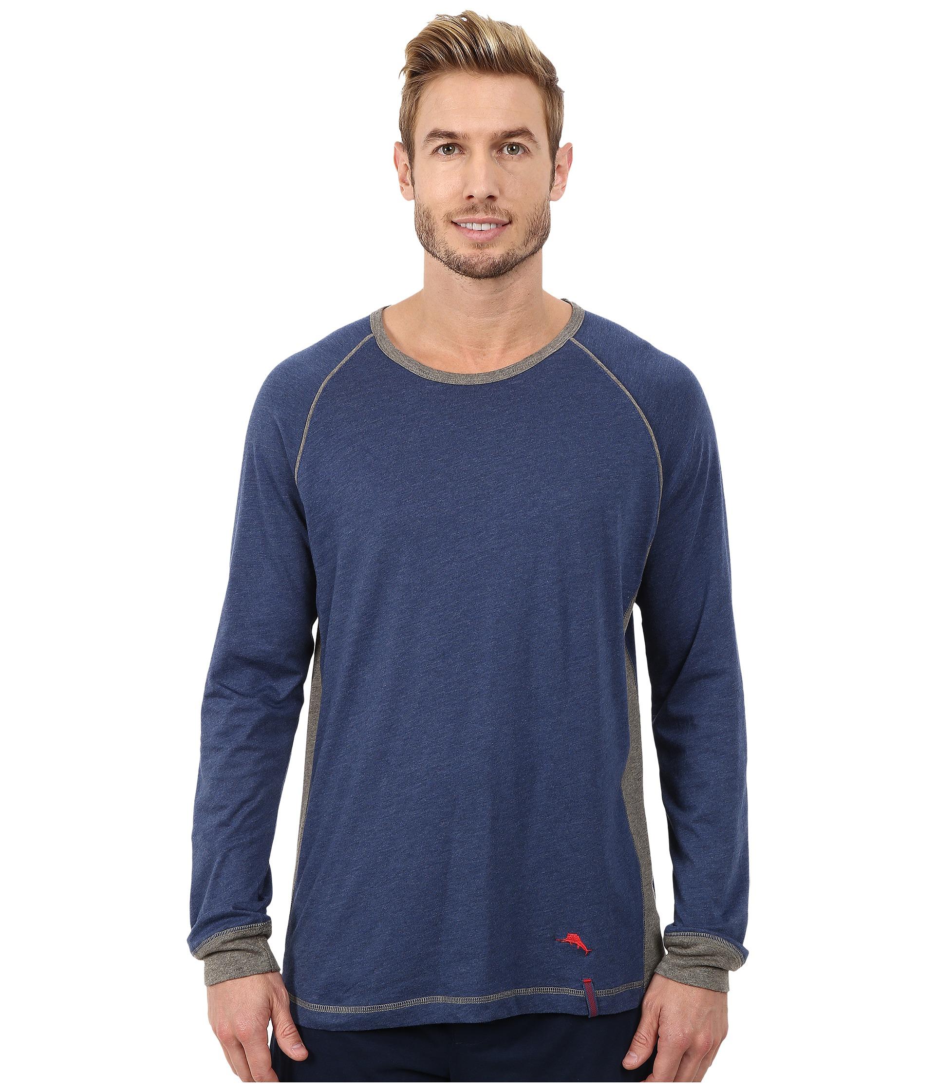 Tommy bahama heather cotton modal jersey knit long sleeve for Tommy bahama long sleeve dress shirts