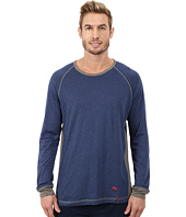 Tommy Bahama - Heather Cotton Modal Jersey Knit Long Sleeve Crew Neck Shirt