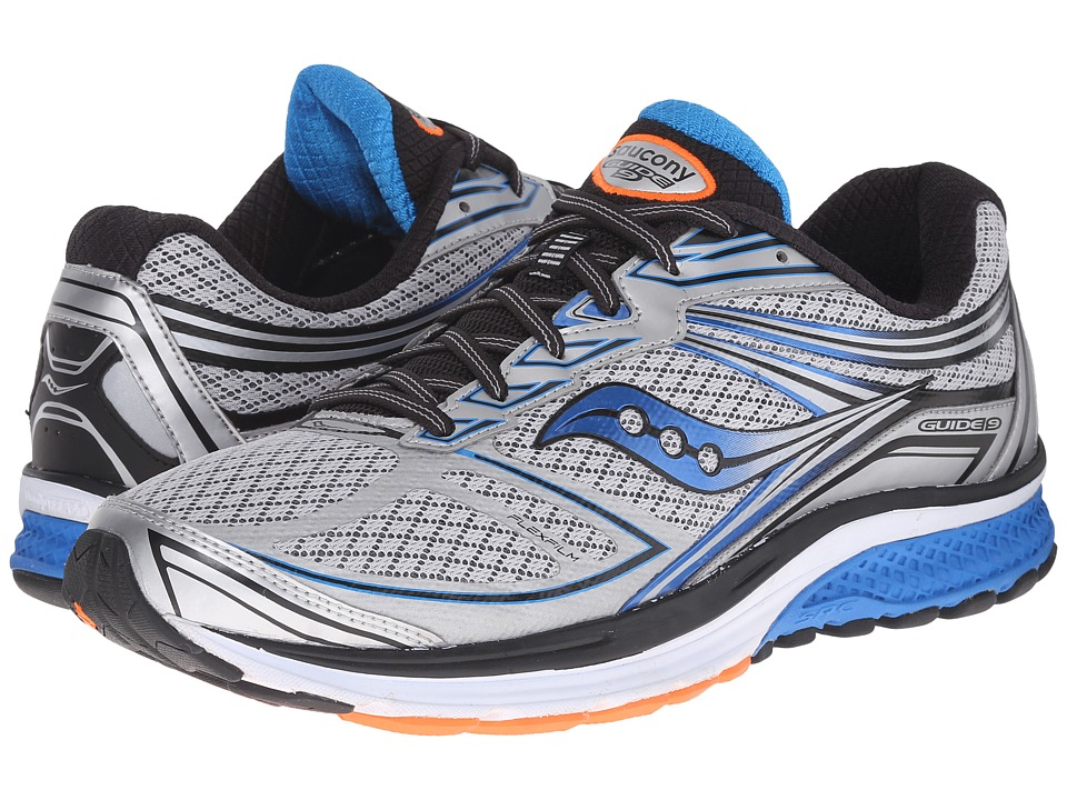 Saucony - Guide 9 (Silver/Blue/Orange) Mens Shoes