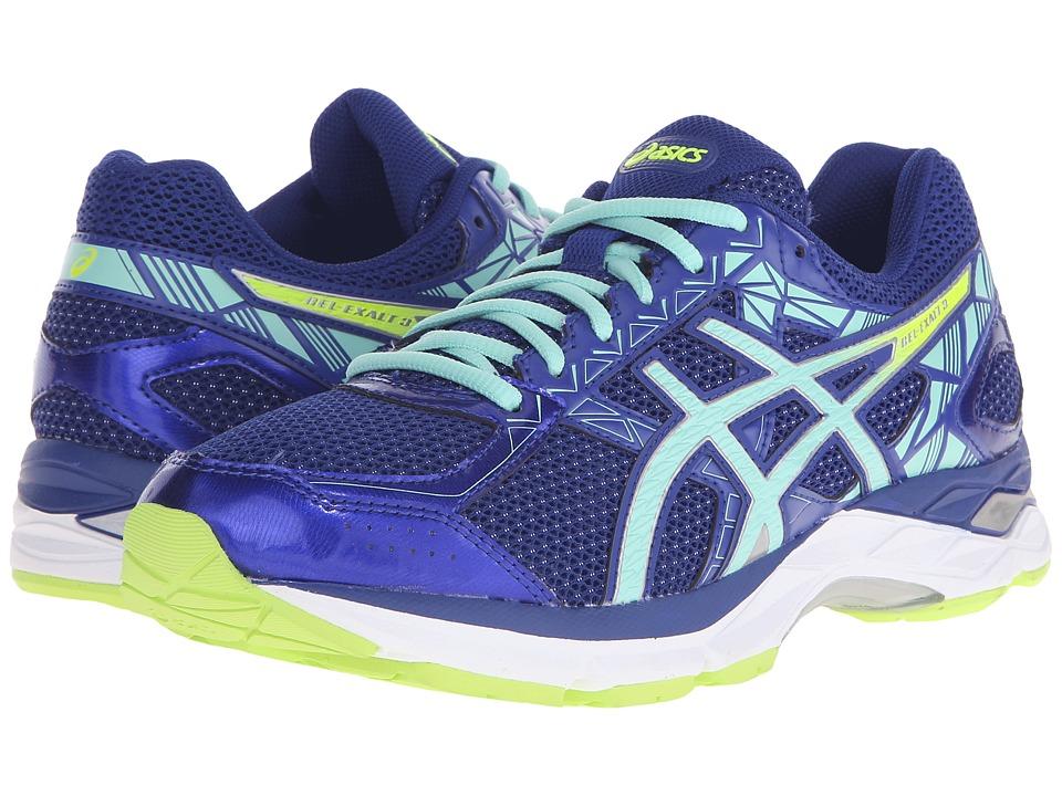 ASICS Gel Exalt 3 ASICS Blue/Mint/Flash Yellow Womens Running Shoes