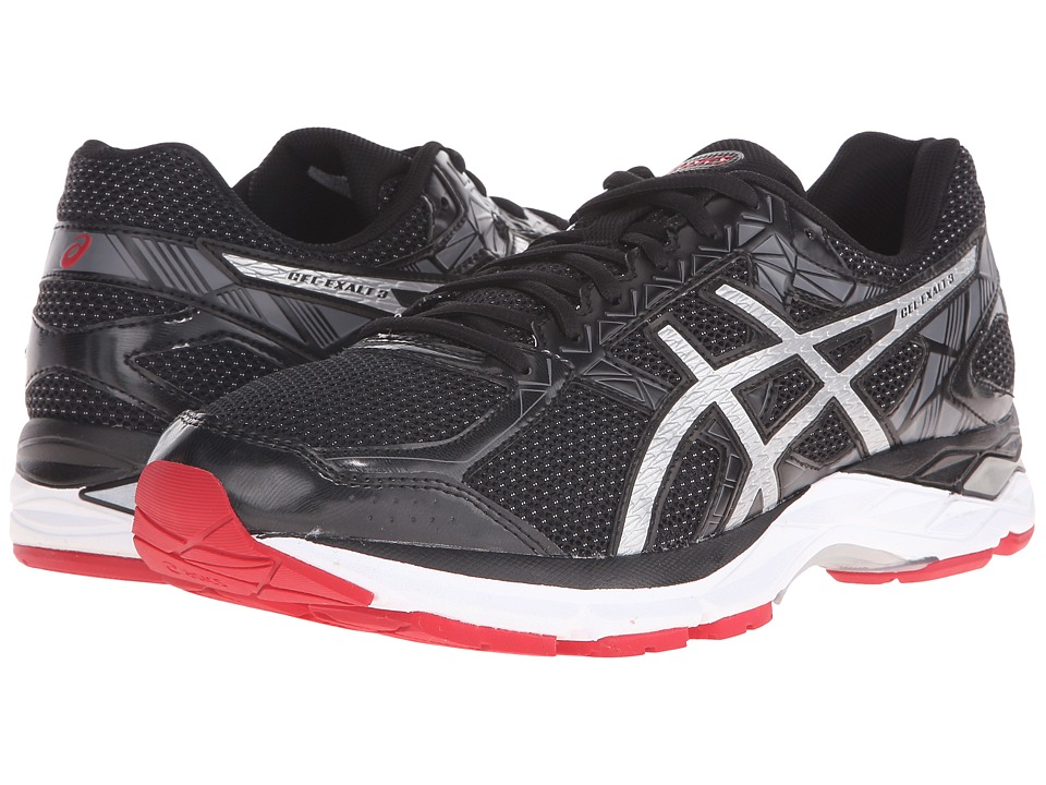 ASICS Gel-Exalt 3 (Black/Silver/Racing Red) Men