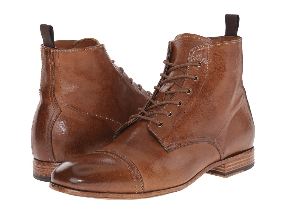 Alexander McQueen Washed Lace Up Boot Brown Mens Lace up Boots