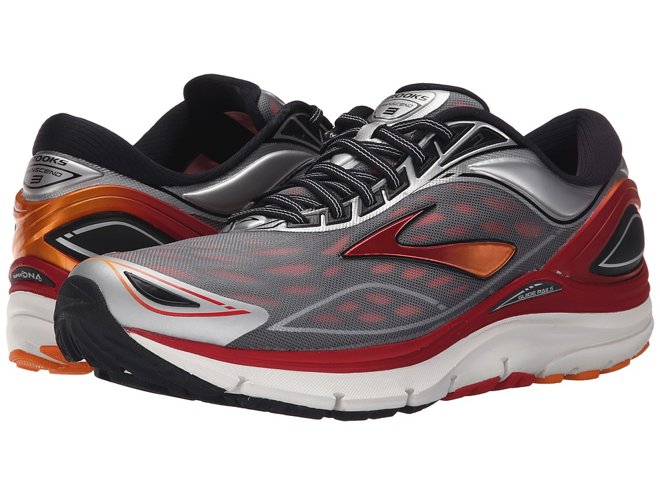 Brooks Transcend 3 (Silver/Orange Popsicle/High Risk Red) Men