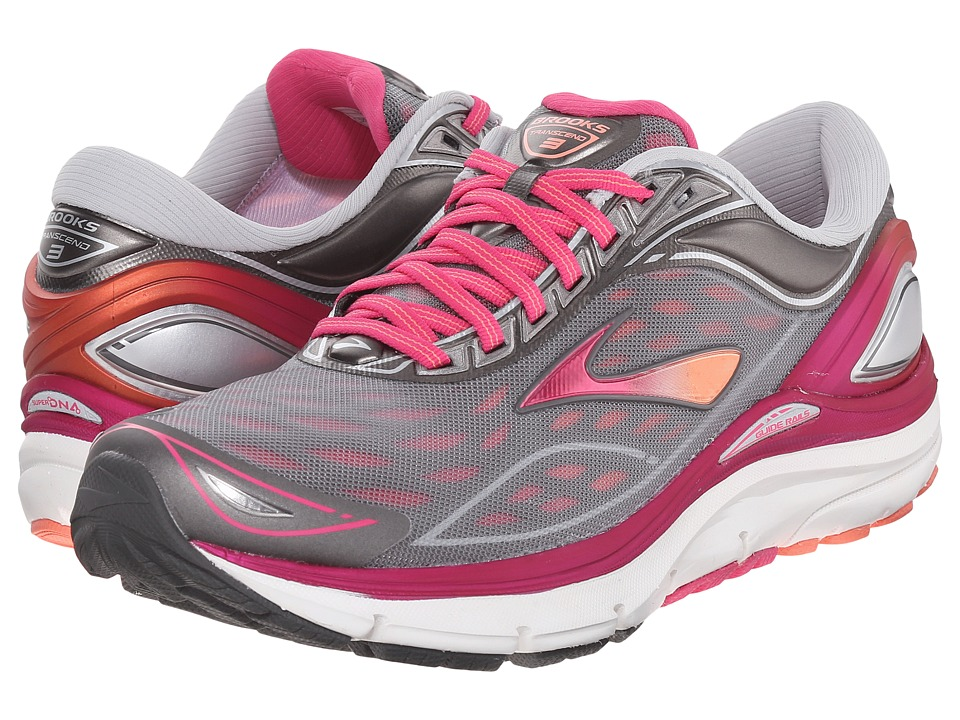 Brooks Transcend 3 (Silver/Beet Root Purple/Fresh Salmon) Women