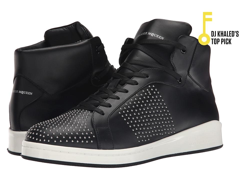 Alexander McQueen Lilliput High Top Sneaker Black Mens Shoes