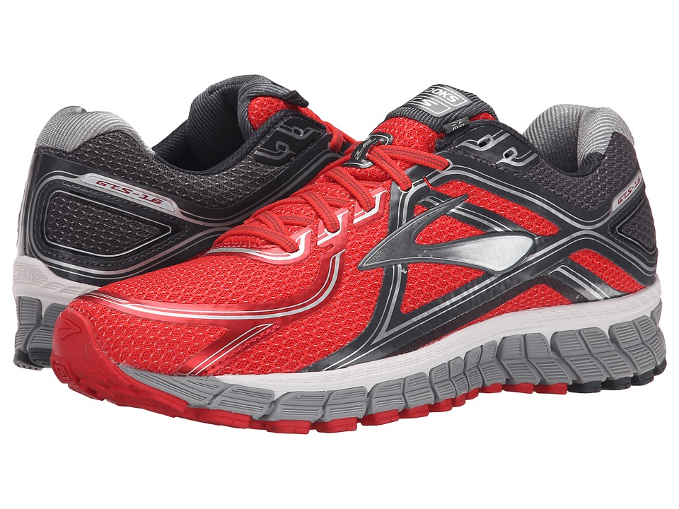 Brooks - Adrenaline GTS 16 (High Risk Red/Anthracite/Silver) Men