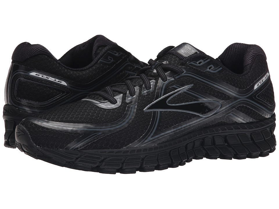 Brooks Adrenaline GTS 16 Black/Anthracite Mens Running Shoes