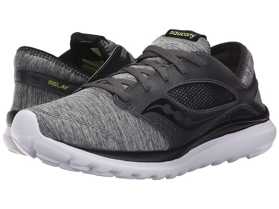 Saucony - Kineta Relay (Heather/Black) Mens Running Shoes