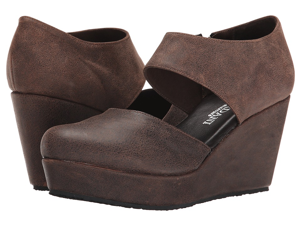 Cordani Fame Brown Vintage Leather Womens Wedge Shoes