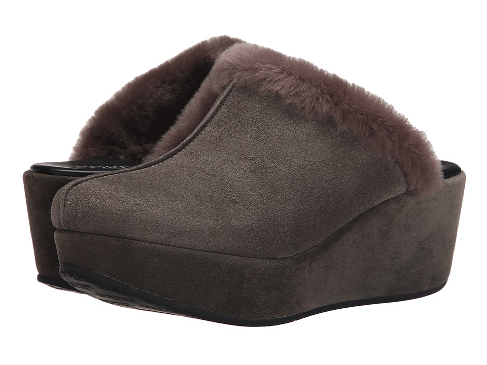 Cordani Darma Grey Suede Womens Clog Shoes