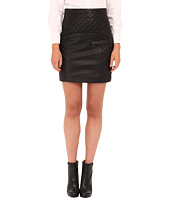 Pierre Balmain - Quilted Leather Skirt FP4302L