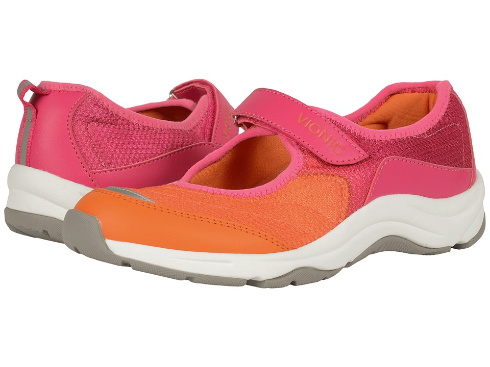 VIONIC Action Sunset Mary Jane Pink/Orange Womens Maryjane Shoes