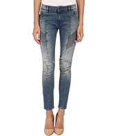 Pierre Balmain - Ribbed-Side Jeans in Blue FP5358J