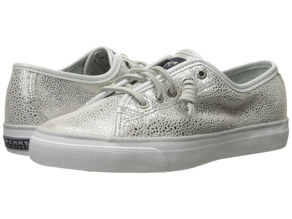 Sperry Top Sider Seacoast Silver Caviar Womens Lace up casual Shoes