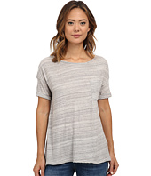 Three Dots - Scoop Neck Pocket Tee