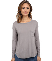 Three Dots - Long Sleeve Boat Neck Tee