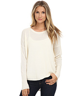 Three Dots - Long Sleeve High-Low Drop Shoulder