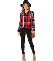 ONLY - Calypso Plaid Fitted Shirt with Lace Back