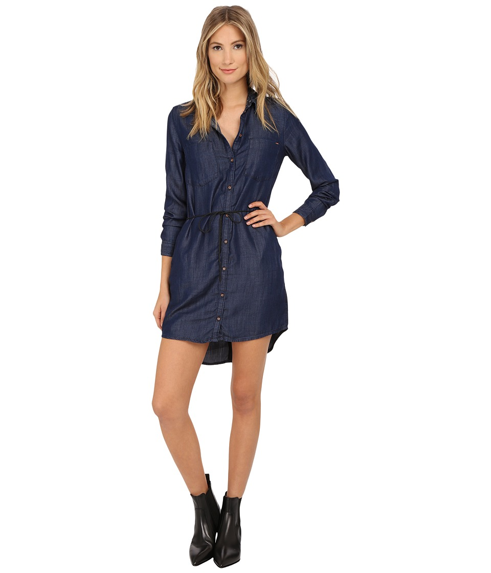 ONLY Henna Denim Dress Dark Blue Denim Womens Dress