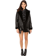 ONLY - Gaia Bonded Biker Coat with Faux Fur Lining