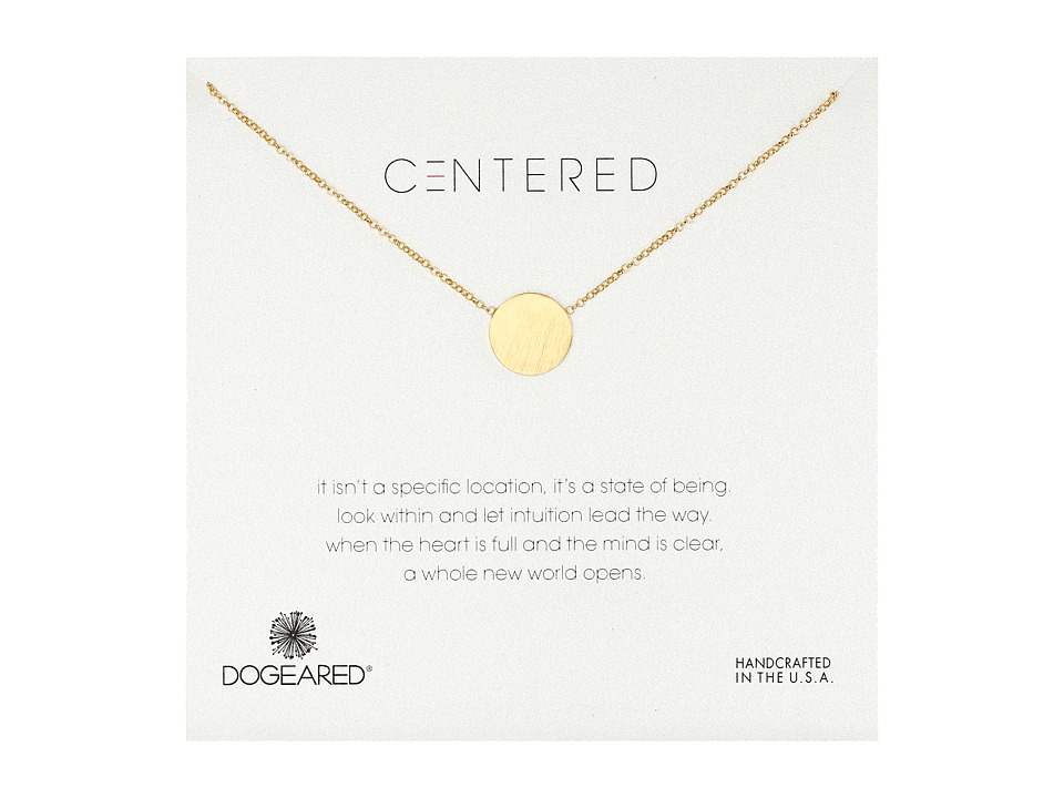 Dogeared Centered Large Circle Soldered Necklace Gold Dipped Necklace