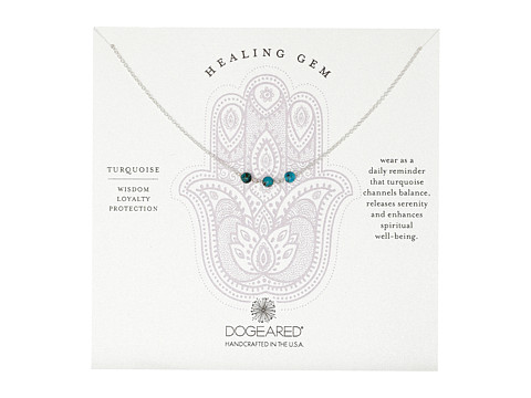 Dogeared Triple Healing Gem Turquoise Necklace