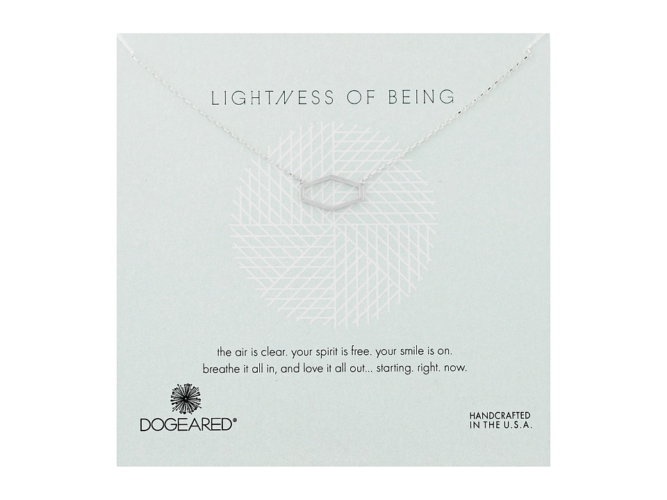 Dogeared Lightness Of Being Air Hexagon Soldered Necklace Sterling Silver Necklace
