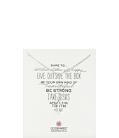 Dogeared - Dare To Little Y Necklace Square Bar