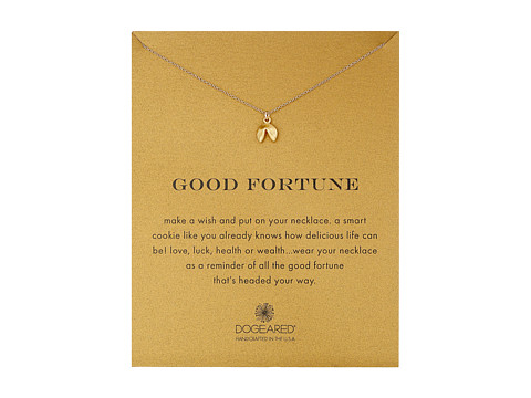 Dogeared Good Fortune Fortune Cookie Reminder Necklace - Gold Dipped