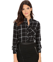 ONLY - Camelia Long Sleeve Plaid Woven Shirt