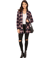 ONLY - Alana Plaid Woven Zip-Up Jacket