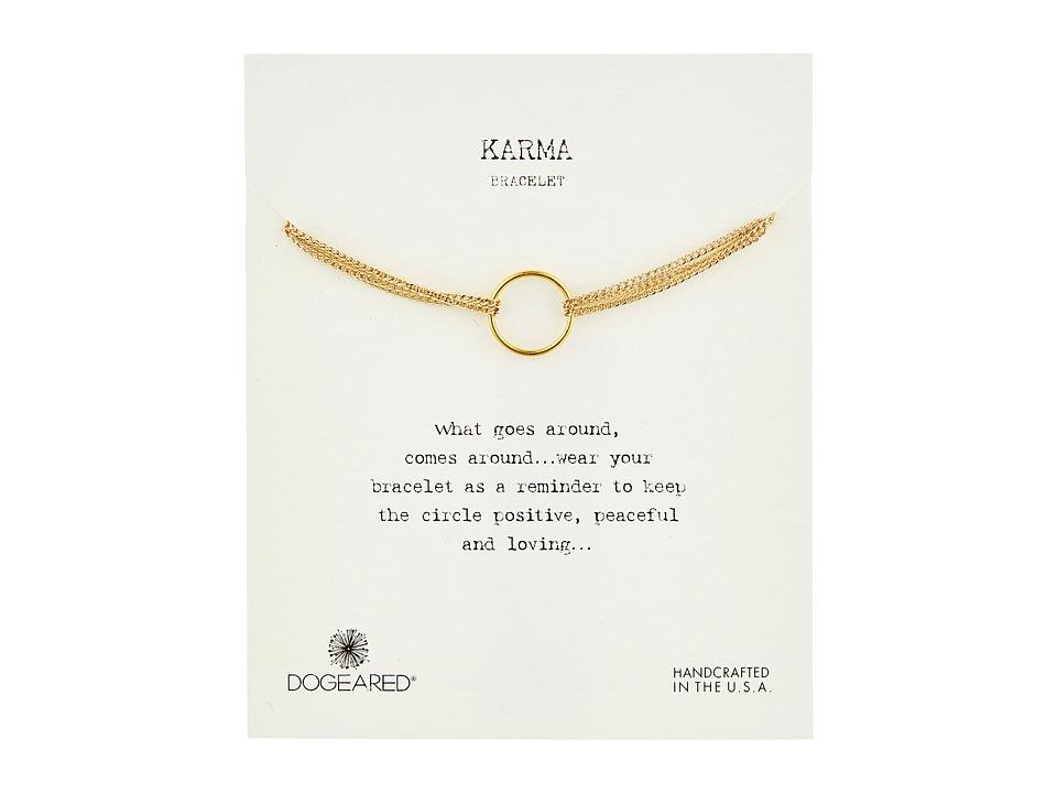 Dogeared Karma 4 Strand Bracelet Gold Dipped Bracelet