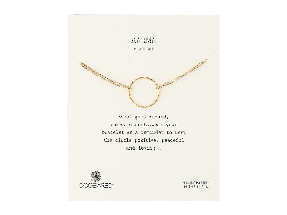 Dogeared Karma Sparkle 2 Strand Bracelet Gold Dipped Bracelet