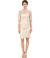 Adrianna Papell - 3/4 Sleeve Guipure Cocktail Dress