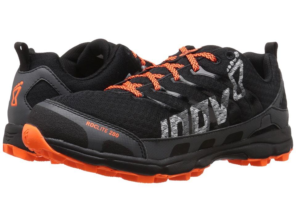 inov 8 Roclite 280 Black/Orange Mens Running Shoes
