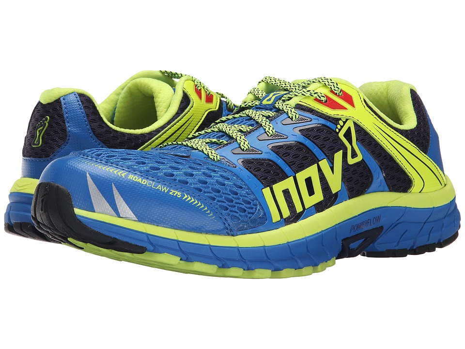 inov 8 Road Claw 275 Blue/Lime/Silver Mens Running Shoes