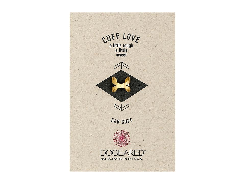 Dogeared Cuff Love X Ear Cuff Gold Dipped Earring