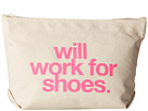 Dogeared Will Work For Shoes Lil Zip (Canvas/Pink)
