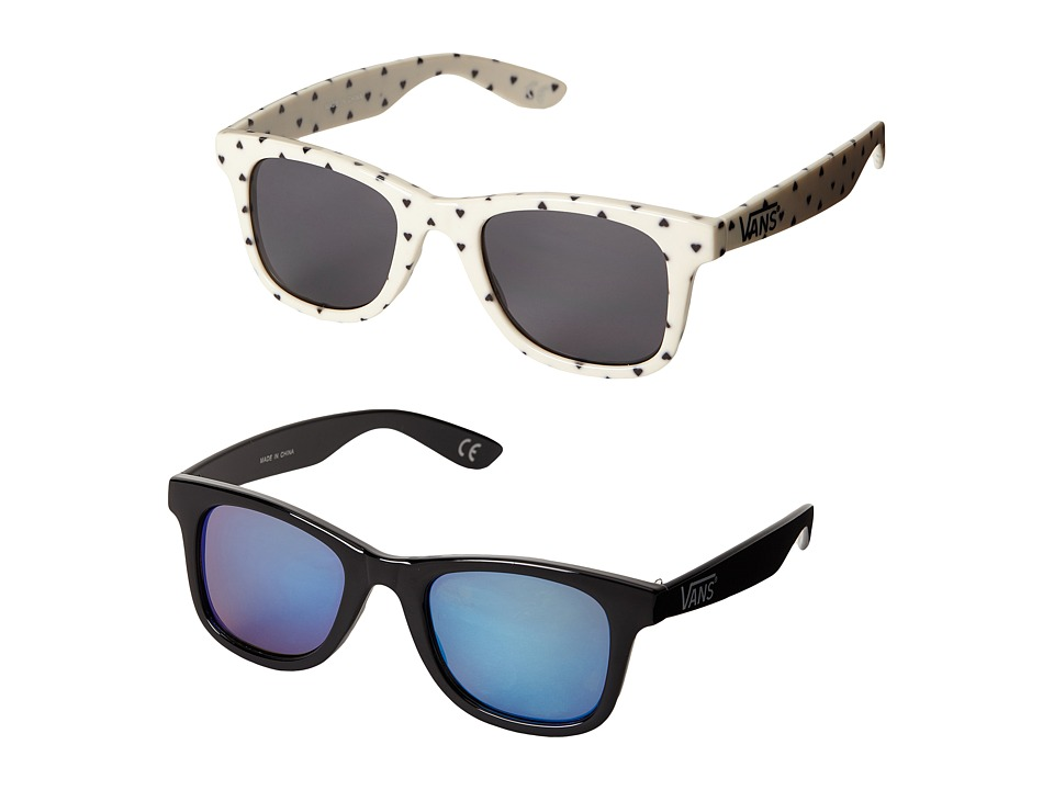 Vans Janelle Hipster Two Pack Sunglasses Classic White/Black Fashion Sunglasses