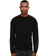 Pierre Balmain - Leather-Ribbed Sweater