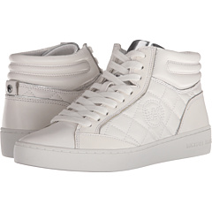 Michael Michael Kors Paige Quilted High Top Optic White