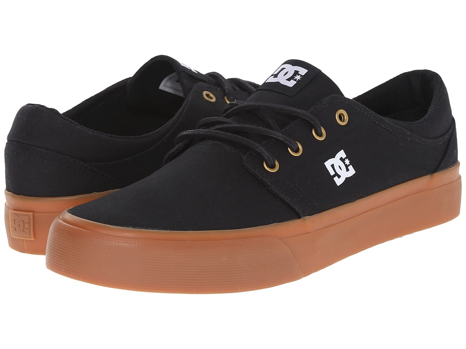 DC - Trase TX (Black/Gold) Skate Shoes