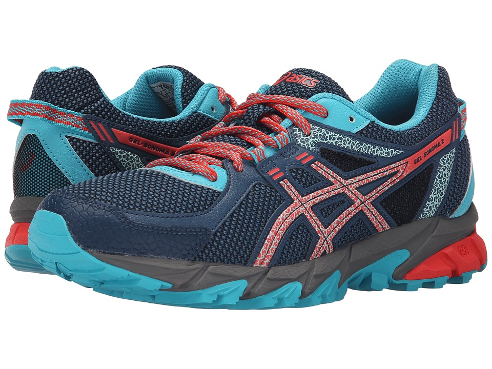 ASICS - GEL-Sonoma 2 (Mediterranean/Flash Coral/Scuba Blue) Women