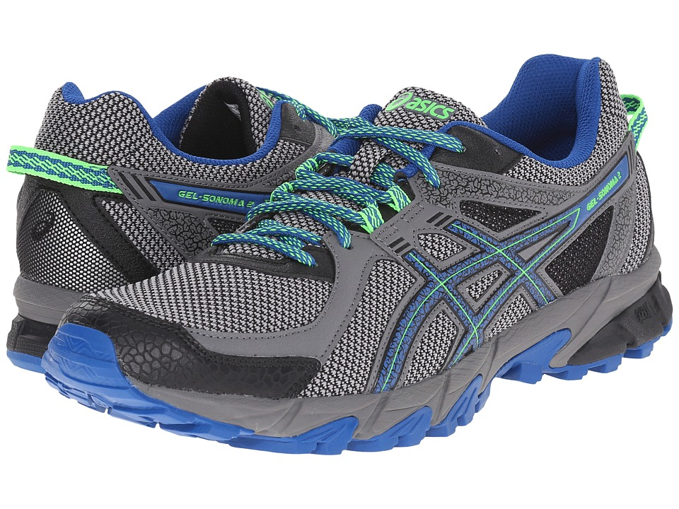 ASICS GEL-Sonoma 2 (Carbon/Snorkel Blue/Green Gecko) Men