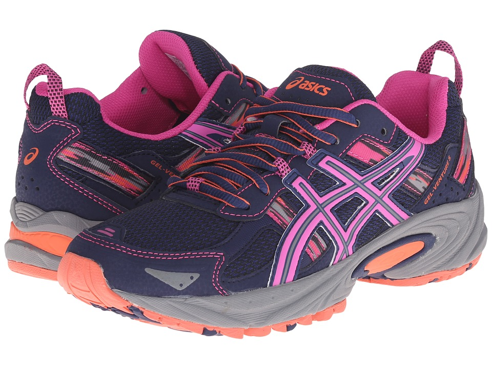 ASICS - Gel-Venture 5 (Indigo Blue/Pink glow/Living Coral) Womens Running Shoes