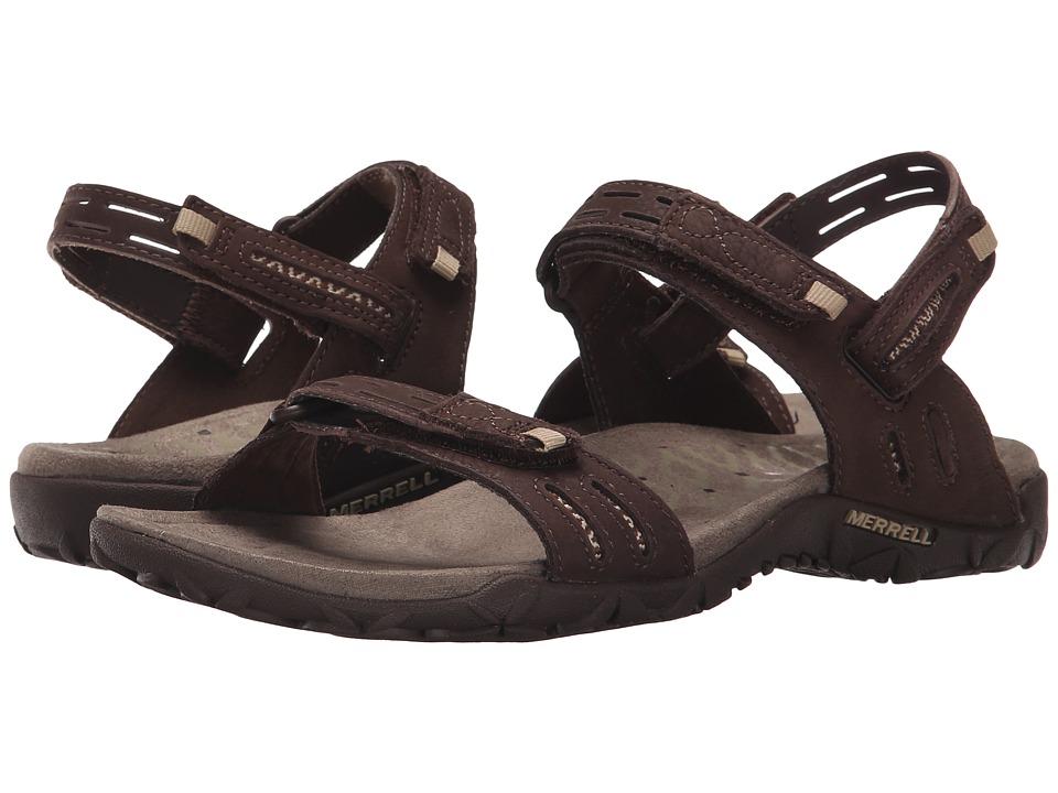 Merrell - Terran Strap II (Dark Earth) Womens Shoes