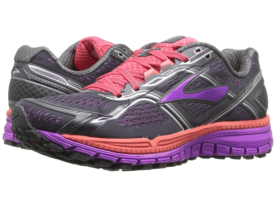 Brooks Ghost 8 Anthracite/Purple Cactus Flower/Dubarry Womens Running Shoes