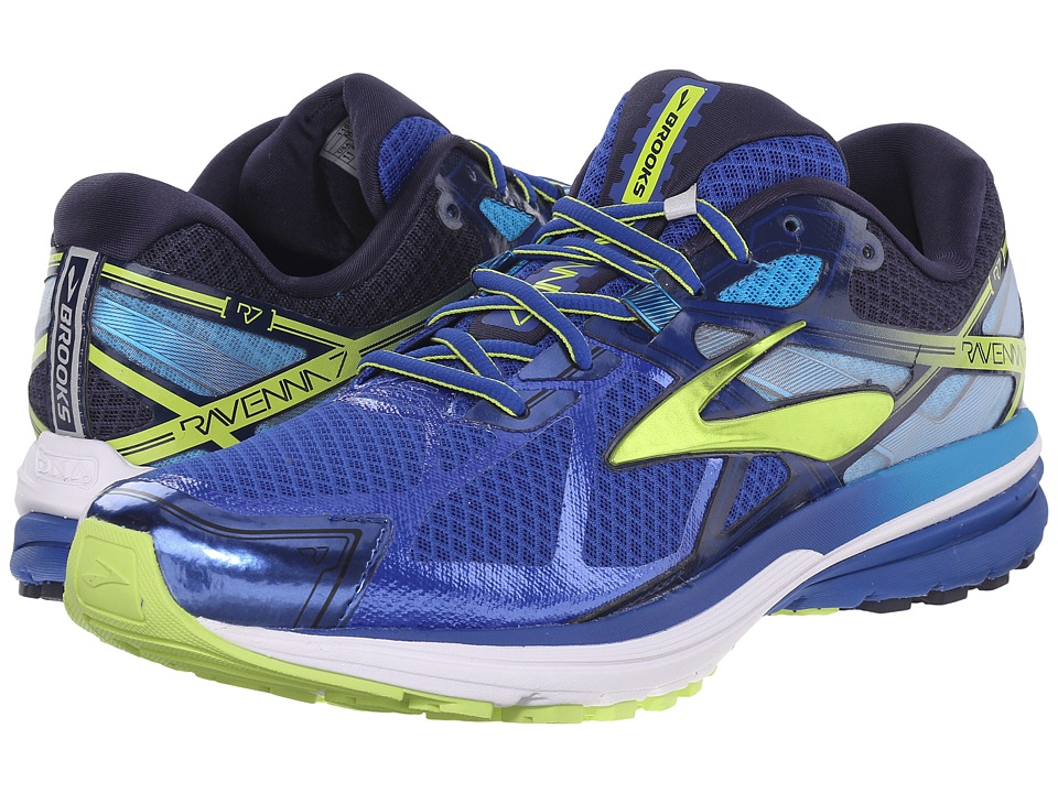 Brooks Ravenna 7 (Surf The Web/Lime Punch/Peacoat Navy) Men