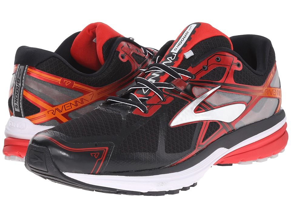 Brooks Ravenna 7 (Black/High Risk Red/Silver) Men