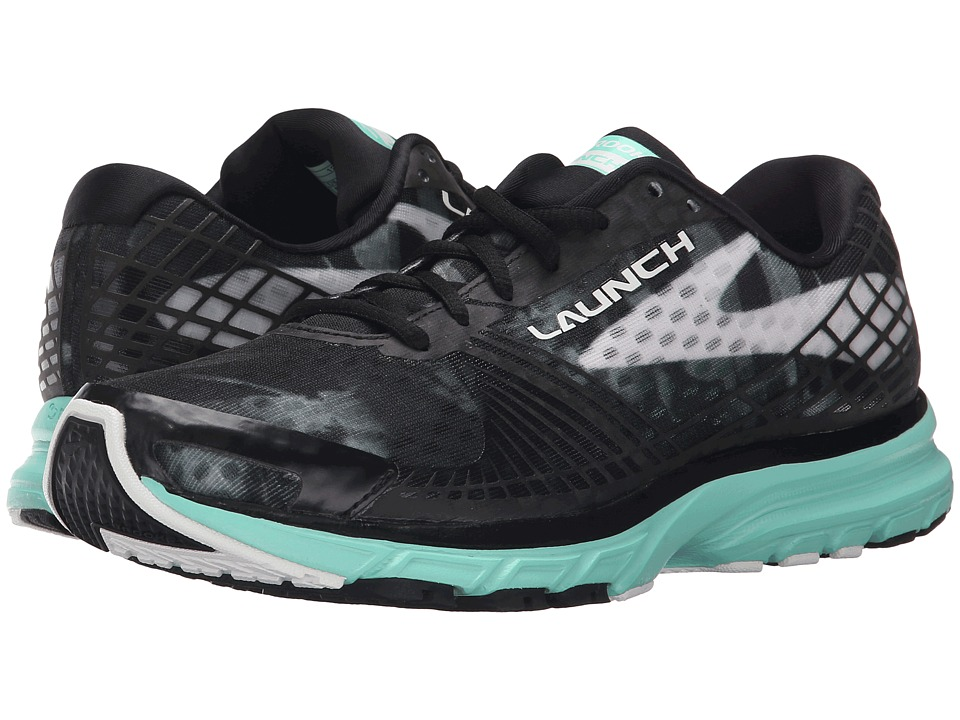 Brooks Launch 3 (Black/White/Ice Green) Women